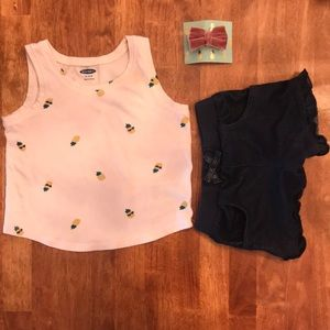 Pineapple tank top and shorts